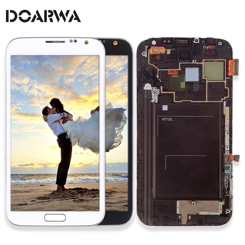 Spare LCD Display Touch Screen For samsung galaxy Note 2 Note2 II N7100 Mobile Phone Digitizer Assembly Replacement Parts