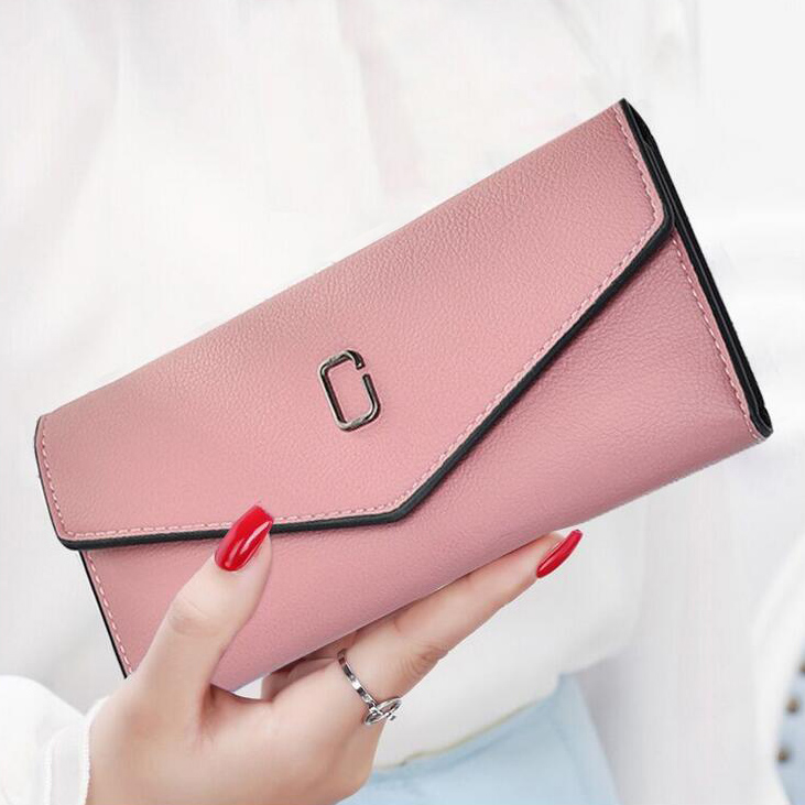 Lady Purses Clutch Women Wallets ID Cards Holder Envelope Money Bags Female Multifunctional Long Purse Handbags Casual Pouch Bag candy colors lady envelope purses long clutch women zipper wallets change coin purse good quality money bags cards holder wallet