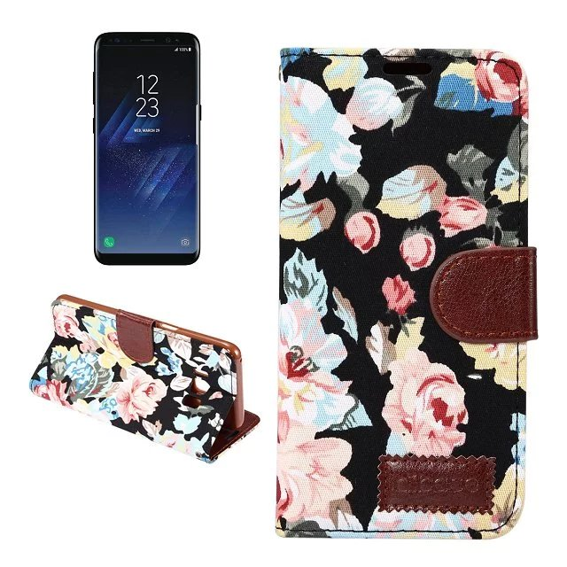 For Samsung Galaxy S8 Plus Women Lady Girl Flower Leather Flip Wallet Card  Case For Samsung S 8 Plus Folding Cover Holster Case 3efecd1bfc