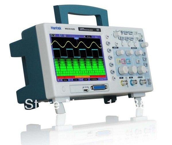 Hantek MSO5102D 100Mhz  mixed oscilloscope , 16 channels logic analyzer + 2 channels oscilloscope + external trigger  осциллограф dhl hantek mso5102d 100 1gs s 16 2