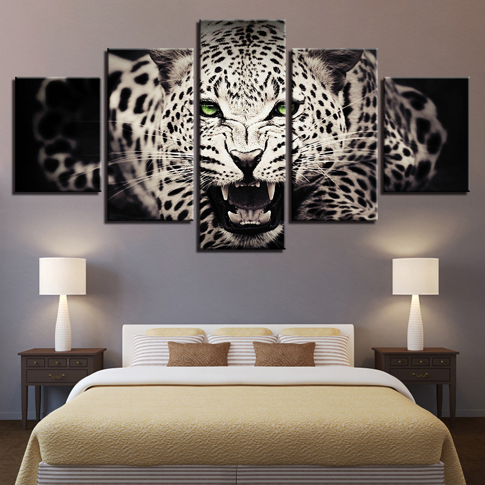 Animal Print Camel Dog Bear Lion Cat Canvas Paintings Poster Wall Print Canvas 5 Panel Home Decorations Living Room Abstract 274