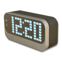 Multi Color Large Display LED Screen Indoor Room Thermometer Electronic Temperature Meter Weather Station Digital Alarm Clock