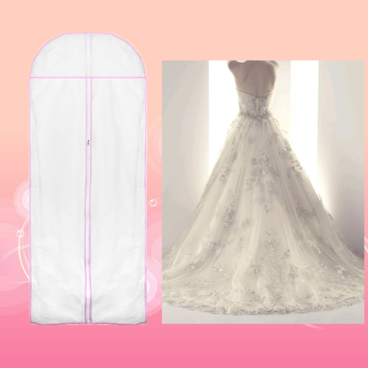 garment bags wedding dress storage Huge Extra Large White Monster Breathable Cloth Bridal Wedding Gown Dress Garment Bag Travel Storage Organize