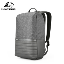 Kingsons 15 inch Laptop Backpack USB Charging Anti Theft Backpacks Men Travel Backpack Waterproof School Bag Male Mochila gray men s backpack with usb interface black laptop backpack zipper classic male blue travel school bag anti theft backpacks