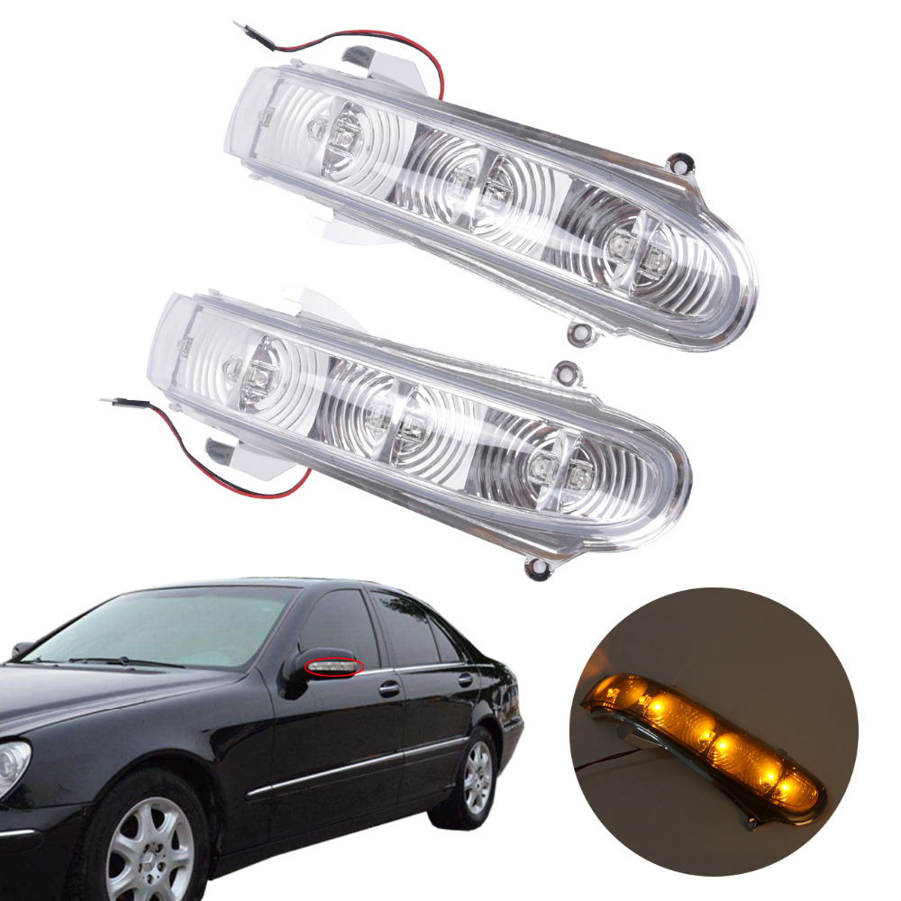 LED Side Mirror Turn Signal Light For Mercedes W220 W215 CL600 S430 500 1999-2003 ome 2208100164 ,2208100264 //