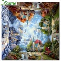 3D DIY Diamond Painting Four Seasons Scenery Resin Needlework Home Decor Full Rhinestone Mosaic 5D Diamond