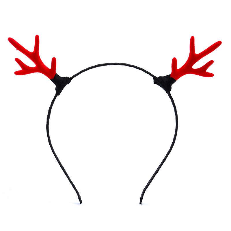 بسيطة الكبار الأطفال عقال جديد الأزياء قرون تمتد الفتيات رباط شعر إكسسوارات الشعر عيد الميلاد البوب إكسسوارات الشعر