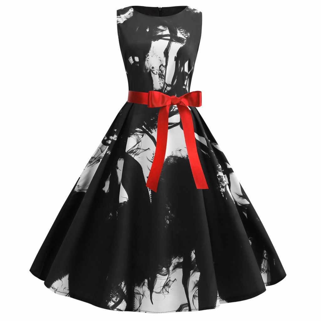 Женское Повседневное платье-макси, летние модные вечерние платья с градиентным принтом, элегантный сарафан, высокая талия, шнуровка, пояс-кушак, длинные платья