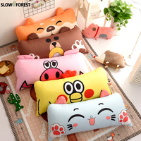 Slow Forest Cartoon Cushion Pillow Doll 50x110cm Home Decor Kids Big Back Pillow Bedside Living Room Bedroom Sofa Large Cushions