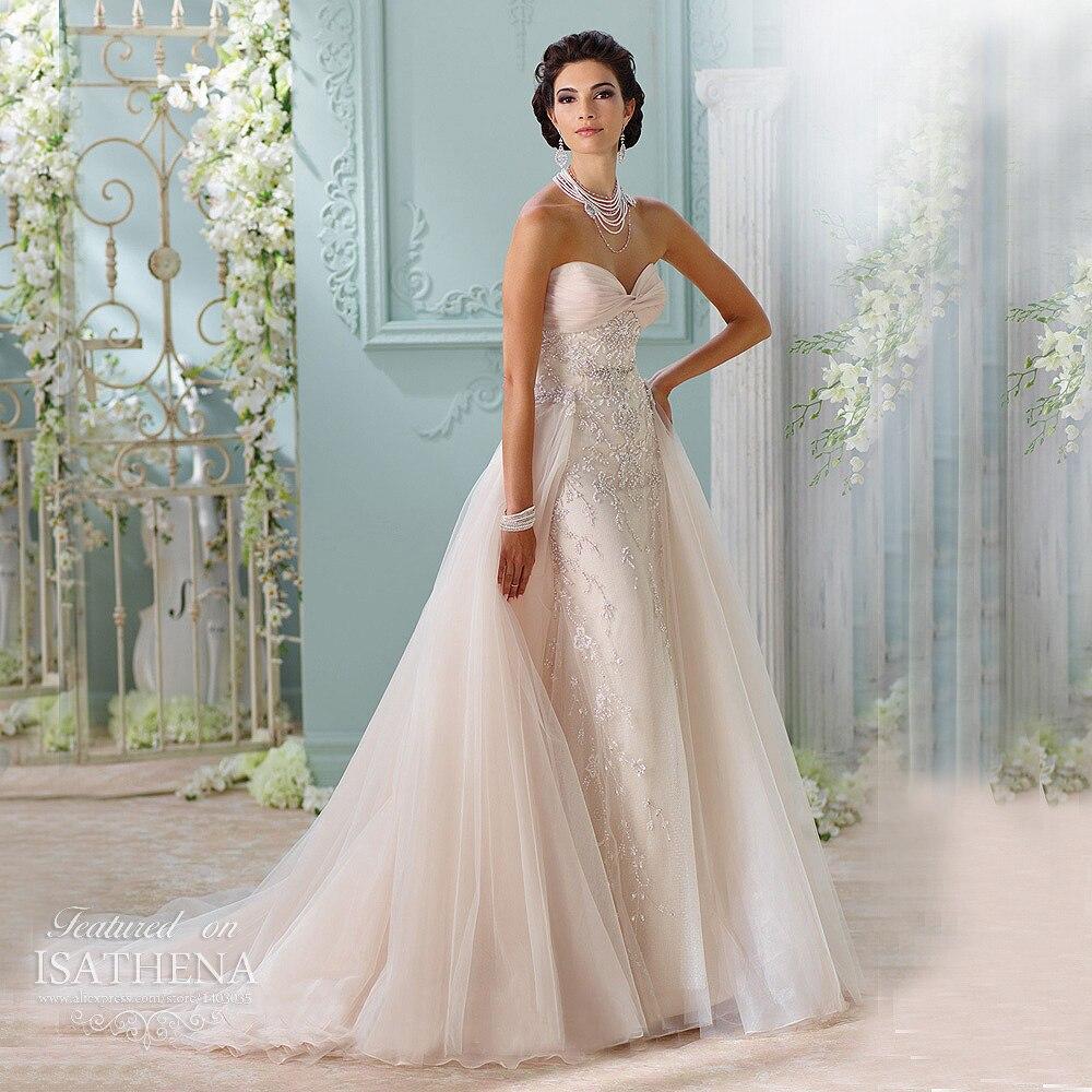 2016 Fashion Shiny Blush Sweetheart Embroidery Beaded Detachable ...