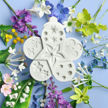 Flower Core Silicone Baking Mold Cake Decorating Tools DIY 3D Fondant Chocolate
