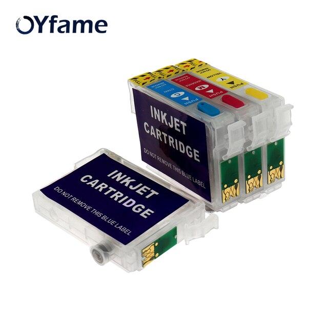 OYfame חדש 73N T0731N Refillable מחסנית דיו עבור Epson Stylus TX200 TX410 TX210 TX300F T40W TX600FW TX550W מדפסת עם שבבים