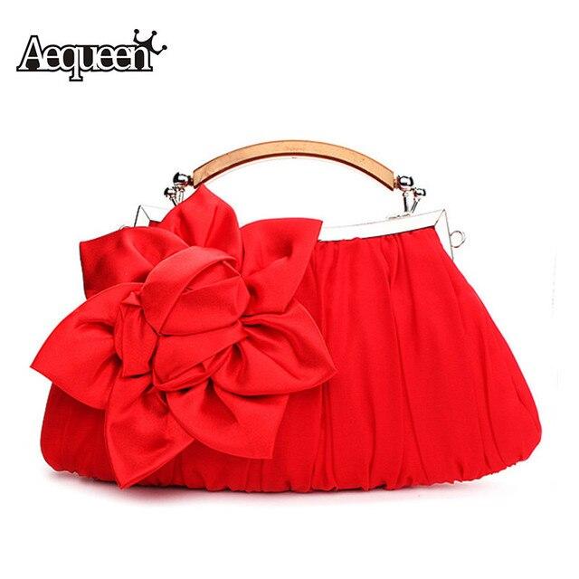 AEQUEEN Luxury Evening Bag Flower Bride Bag Purse Party Women Handbag Wedding Clutch Evening Purse Lady Party Bag