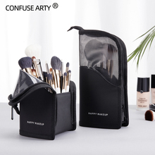 PU Leather Fashion Make Up Bucket Travel Cosmetic Bags High Quality Multifunctio
