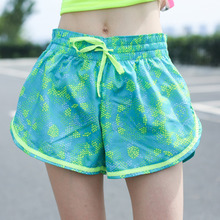 Women Sports Digital Printing Running Yoga Fitness Shorts Quick-Drying Jogging Shorts Outdoor Sports Training Shorts new