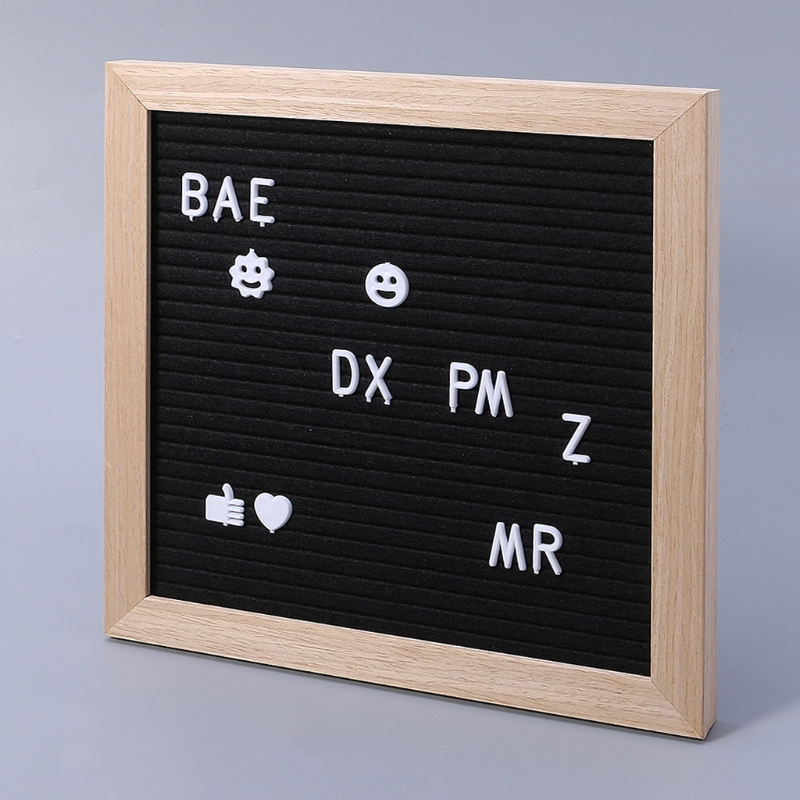 Free Shipping Felt Message Board Decor Board Frame White Letters Symbols Number Characters Bag