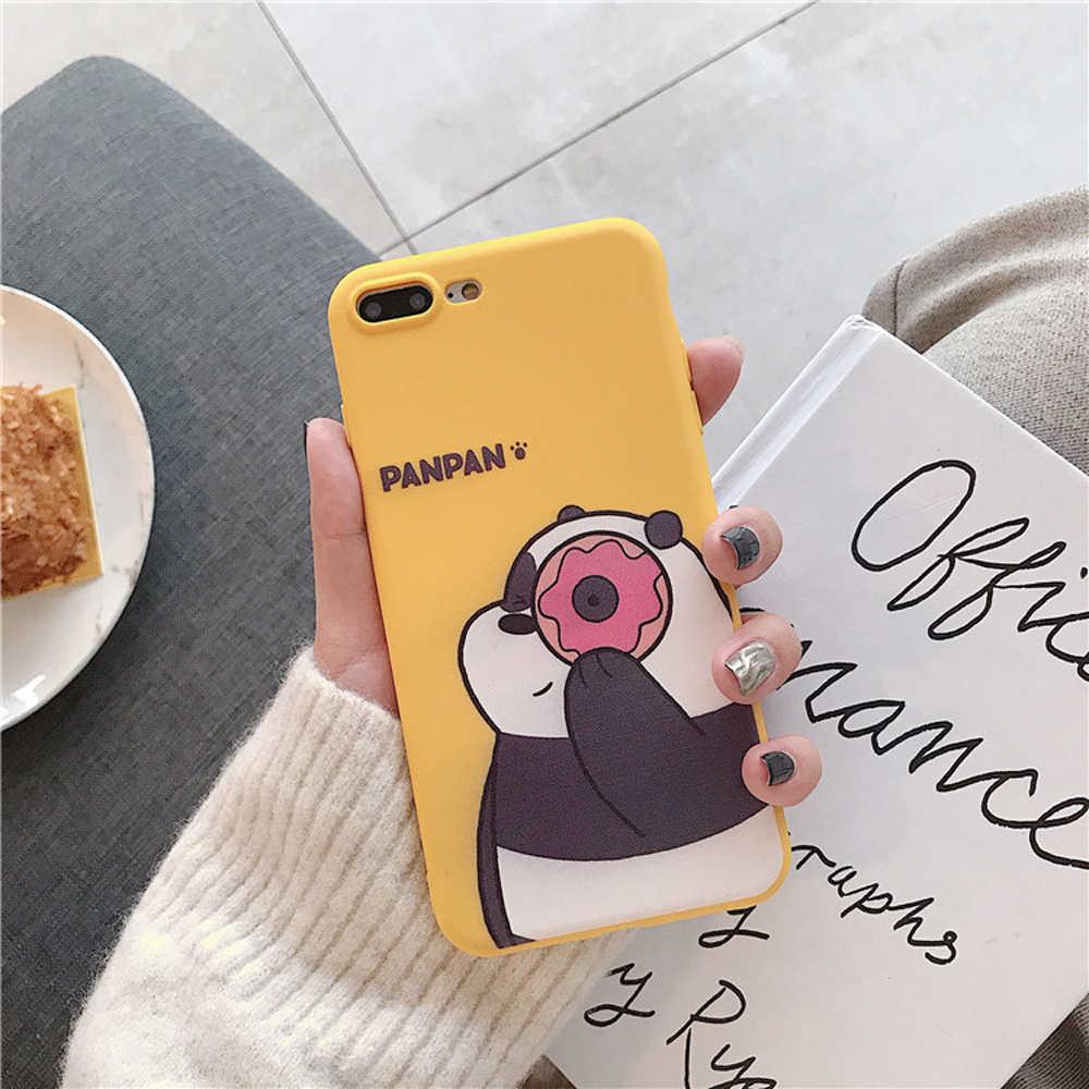 Heyytle Baru Beruang Kartun Ponsel Case untuk iPhone 7 7 Plus 6 6 S Back Cover Ultra Tipis Lembut TPU kasus untuk iPhone X XS Max XR Tritone