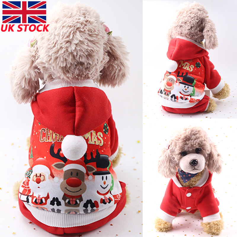 For Pet Dog Christmas Costumes Puppy Cat Clothes Furry Coat Hoodie Apparel New Dog Hoodies Aliexpress