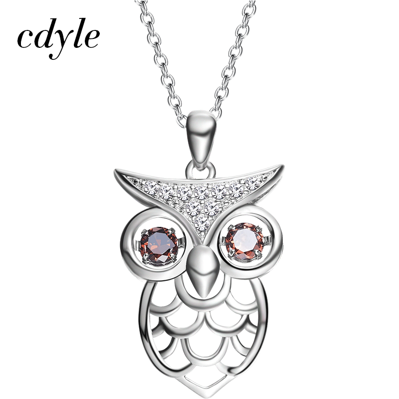 Cdyle AAA Cubic Zircons Necklace Women Pendant Owl Shape Trendy Copper Jewelry  Chic Bijous Retro Austrian Rhinestone Paved-in Pendant Necklaces from  Jewelry ... 78f7c3230ac2
