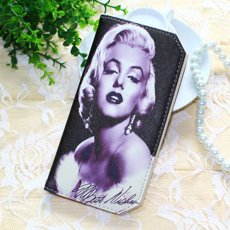 New Women Wallets Lady Purses Credit Cards ID Holder Marilyn Monroe Pattern Money Burse Bags Female Long Clutch Purse Wallet Bag new arrival leather wallets men brand business long purses money bag credit card holder 2017 new zipper phone clutch wallet male
