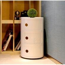 Современный дизайн, популярные пластиковые круглые большие классические пластиковые шкафы для хранения, круглые шкафы для хранения с выдвижным ящиком, Круглый прикроватный столик