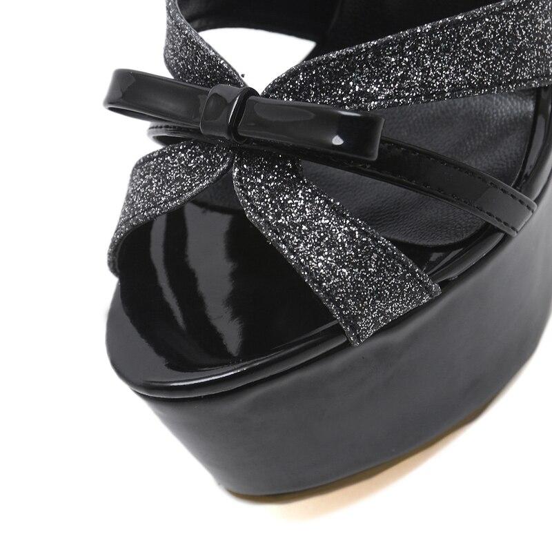 Ladies Heels bow-knot Women Sandals Fashion Summer Wedding Party Heels Women Gladiator Platform Sandals Sexy Stiletto High Heels