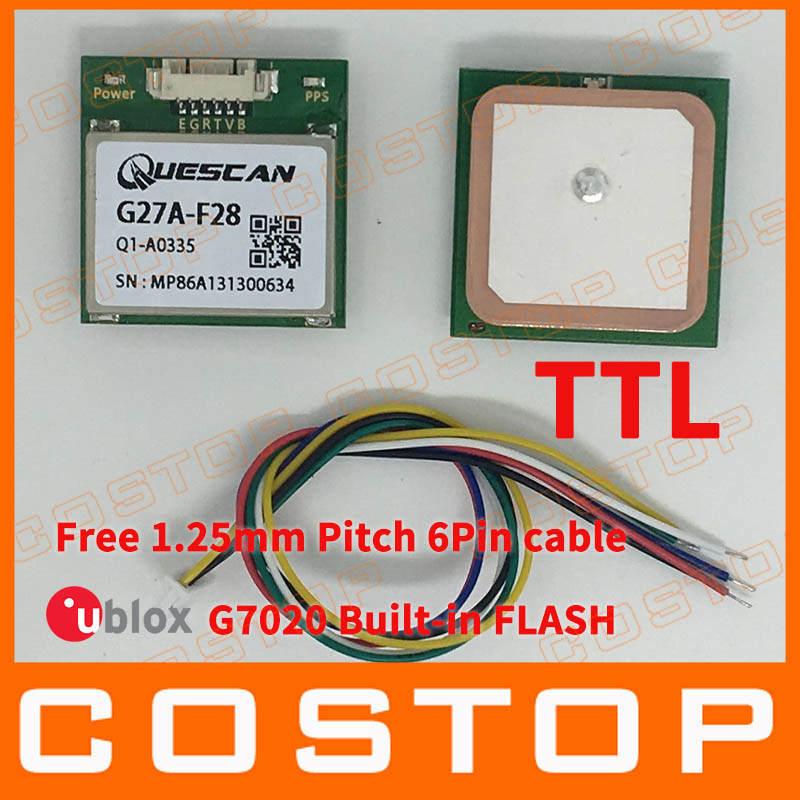 Free Shipping Hot Wholesale font b GPS b font Module with antenna receiver chipset u blox