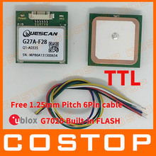 Free Shipping Hot! Wholesale GPS Module with antenna receiver chipset u-blox G7020 UBX G7020-KT supper NEO-7N   SQI Flash TTL