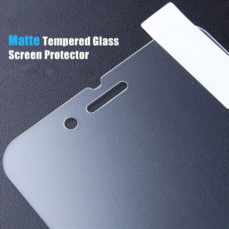 0 3mm Premium Matte Tempered Glass For iPhone X 7 6S 6 8 plus 5S SE 5 i8 10 Anti Glare Screen Protector Protective Films 10pcs in Phone Screen Protectors from Cellphones Telecommunications