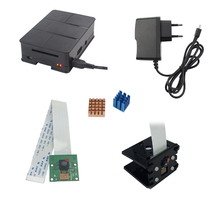 Raspberry Pi 3 Camera 5MP+ RPI Camera Bracket + ABS Case + Heat Sink + 5V 2.5A Power Charger Adapter For Raspberry Pi 3 Model B