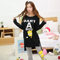 Korean version of the spring and autumn long - sleeved cute sweet cartoon sets of pajamas women 's leisure home clothes suits