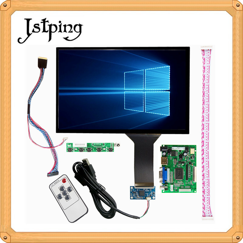 Jstping 10.1 inch 2K 1920*1200 LCD capacitive touch screen HDMI VGA 2AV Control driver board for raspberry pi 3 Windows LinuxJstping 10.1 inch 2K 1920*1200 LCD capacitive touch screen HDMI VGA 2AV Control driver board for raspberry pi 3 Windows Linux
