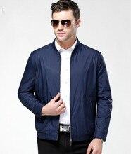 Alta qualidade homens jaqueta de primavera outono jaqueta de algodão ocasional do revestimento do revestimento dos homens da marca veste homme casaco de homem de marca clothing