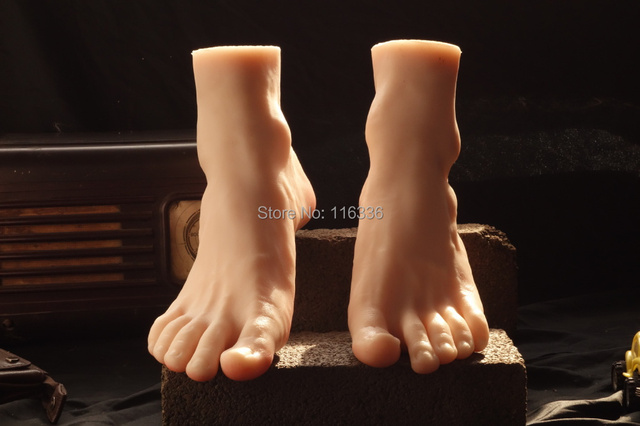 43 Male Silicone Fake Foot,Free Shippinginner Bone Inside,Men Porn Toe Move Freely -9724
