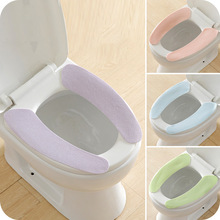 2019 Warm Washable Sticky Toilet Mat Seat Cover Pad Household Reuseable Soft