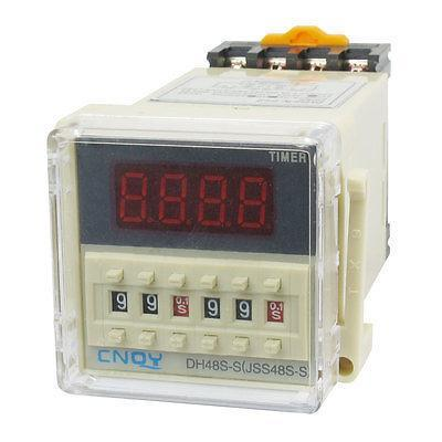DH48S-S2Z Power on Time Delay Relay 8-Pin DPDT 0.1S-99H AC/DC24V w Socket