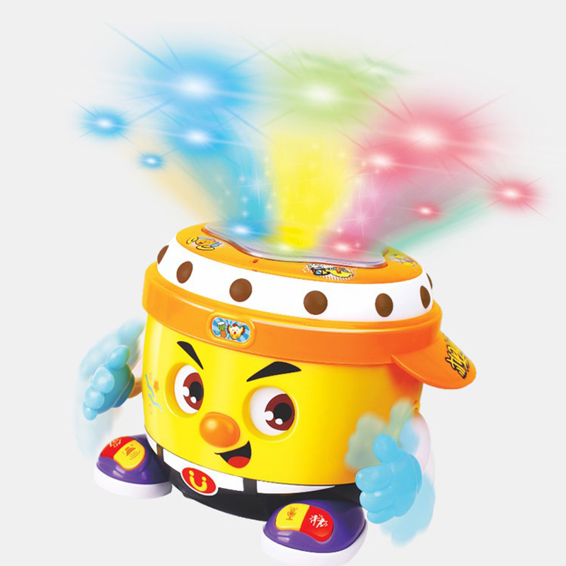Bébé jouet Instrument de musique jouets multi-fonction électrique DJ Pat tambour avec lumière et musique main tambour Puzzle jouets pour enfants cadeaux