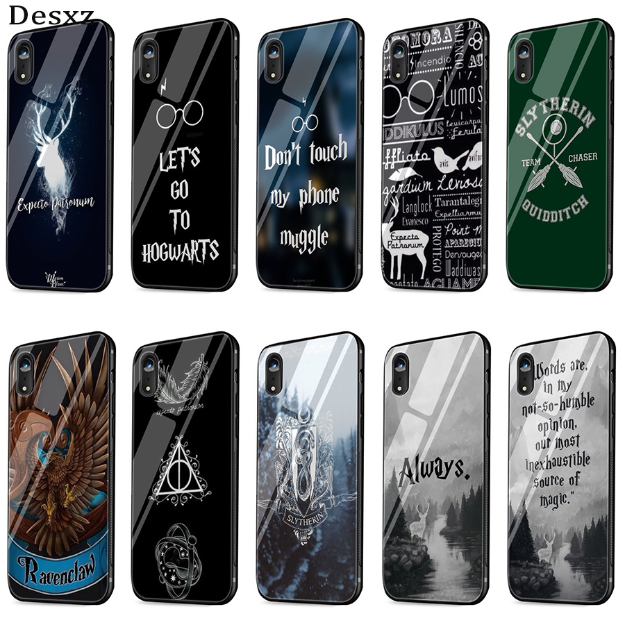 Desxz Tempered Glass Case <font><b>HarryPotter</b></font> Dynamic For iPhone X XS Max XR 6 6s 7 8 Plus 5 5s SE Cases Anti-Fall image