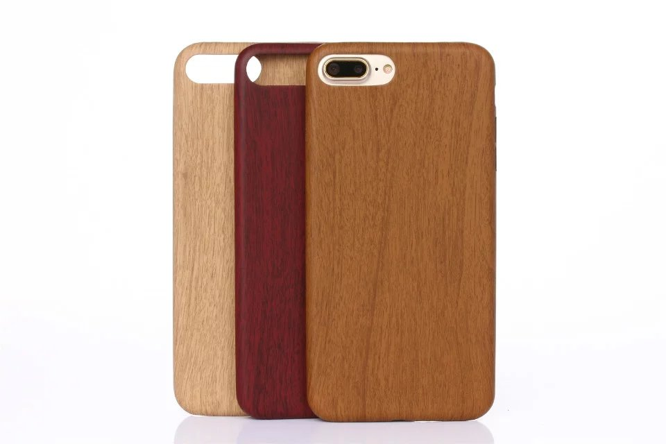 Wood Pattern PU Soft Phone Back Cover Case For iPhone 6s 6 5 5s SE 7