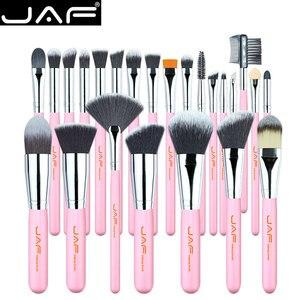 Image 1 - JAF 24 adet pembe makyaj fırçalar yüce yumuşak sentetik saç cilt dostu profesyonel makyaj tam fonksiyonlar fırça seti j2420Y P