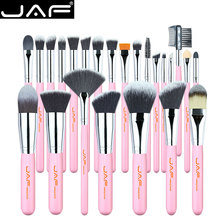 JAF ensemble de pinceaux de maquillage roses, 24 pièces, brosse de maquillage synthétique douce, respectueuse de la peau, fonctions complètes, J2420Y P