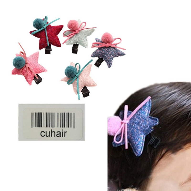 cuhair 5pcs Cute Flower Cartoon Baby Toddler Girl Hair Clip Barrettes Hair Claw Hair Accessories For Kids Girls