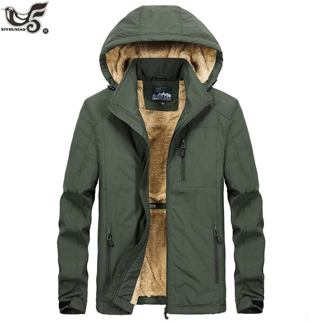 XIYOUNIAO plus size M~5XL 6XL Hooded Men Winter Jacket New Fashion Warm Wool Liner Man Jacket and Coat Windproof Male Parkas