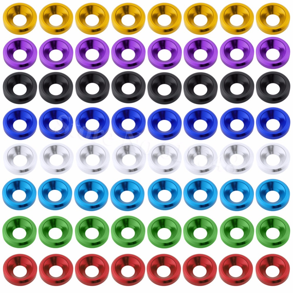 80PCS/Lot Aluminum M3 Countersunk Washer Flat Head Screws Bolts For RC Car Quadcopter Parts Drone Multirotors CNC rc car spacer washer flat head gasket aluminum black 6 x3 5mm spacer washers top quality free shipping 10pcs lot