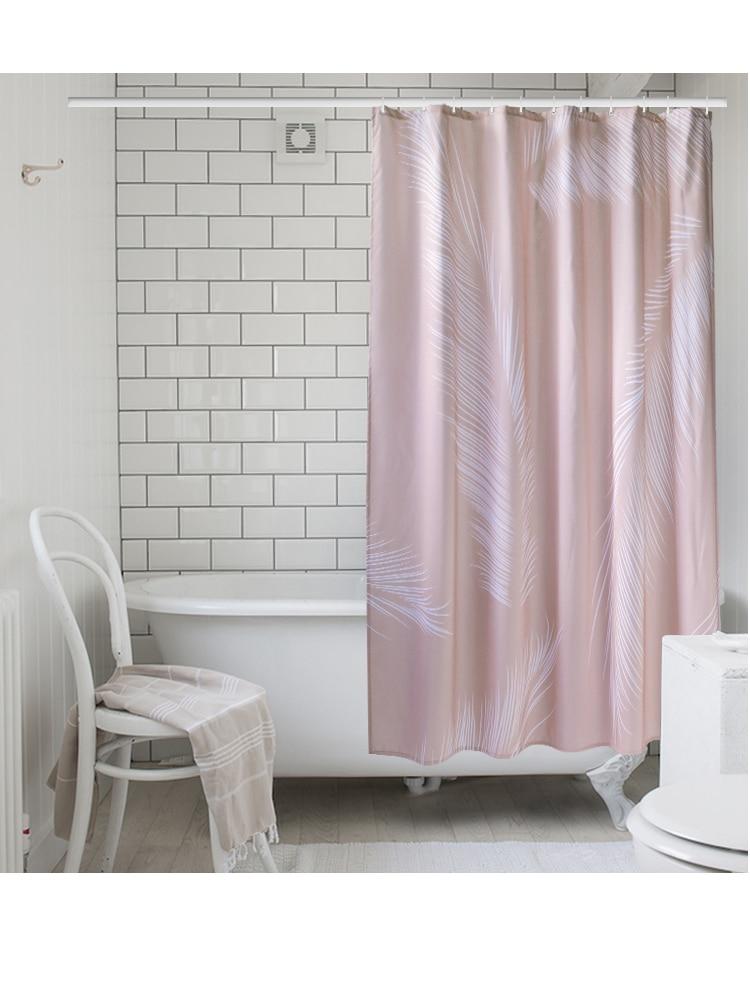 not in imitação de linho chuveiro cortina
