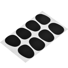 SEWS Hot 8PCS Alto Tenor Saxophone Clarinet Mouthpiece Patches Pads Cushions 0.3mm Black High quality 2.5cm x 2cm