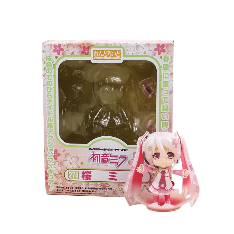 9cm Hatsune Miku 274# Sakura Miku Nendoroid Mini Action Figure Cute Model Toys Collection Doll For Girls s