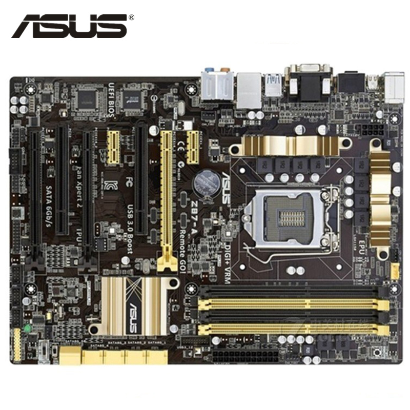 ASUS Z87-A Motherboard LGA 1150 DDR3 32GB Z87 Z87-A Desktop Mainboard Systemboard SATA III PCI-E 3.0 Used 64Mb Flash ROM