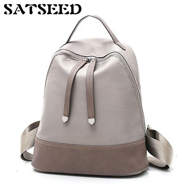 b2a5ea64a1e7 Korean Version Lady New Double Shoulder Bag Women s Pure Color Simple  Leisure Middle School Students  Schoolbag