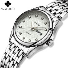 WWOOR Women Watches Brand Luxury Waterproof Stainless Steel